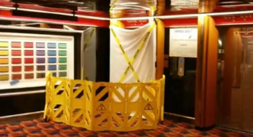Graphic Content Bloody Elevator Found On Carnival Cruise Ship - Man dies on cruise ship