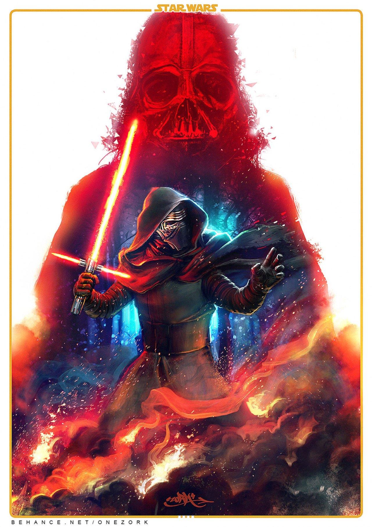 The Force Awakens par Nestor Marinero #starwars #TheForceAwakens #Lereveildelaforce https://t.co/mxEwwfuVwZ