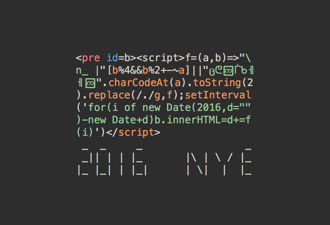 Need a countdown for your 2016? Here is one in 188 bytes of HTML+JS:  https://t.co/1LHzkCQY22 #happynewyear https://t.co/rTJhytoOKY