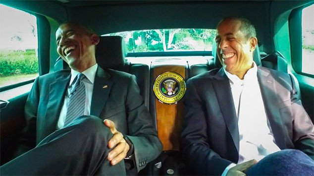 President Barack Obama stars with Jerry Seinfeld in Comedians in Cars Getting Coffee: