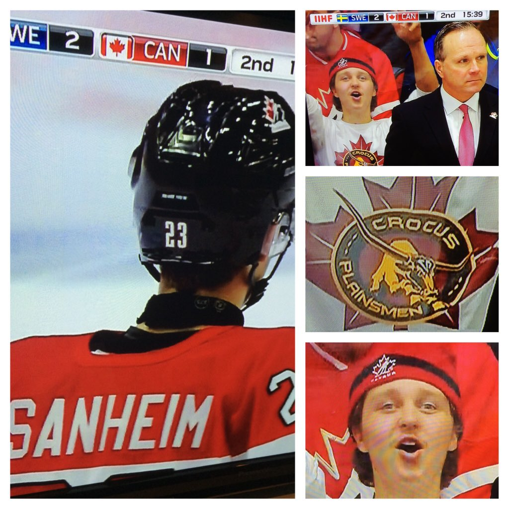As @GMillerTSN mentions @sanheim17 (fr Elkhorn Mb), the next image includes a #plainsmen. #alumni #westman #WJC2016 https://t.co/NdokGFIVSW