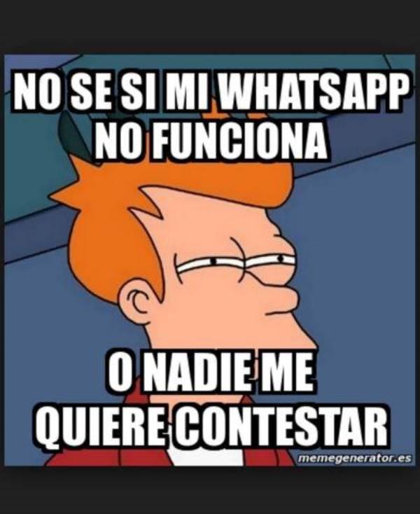 Si no tienes #WhatsApp no culpes a tu teléfono, la aplicación ha registrado problemas a lo largo del día .lp https://t.co/w5fSzoKNkG