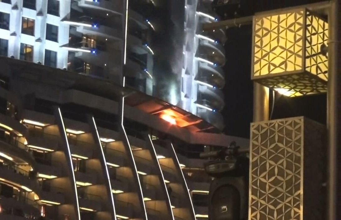 Dubai skyscraper fire: Briton tells of rescuing disabled mother