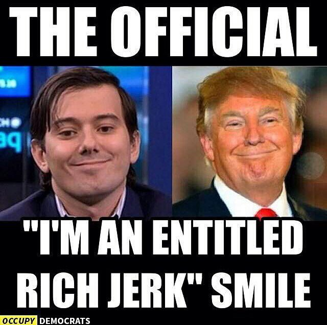 "The ""I'm an entitled rich jerk!"" Smile. . . https://t.co/0XCb67jxPn"