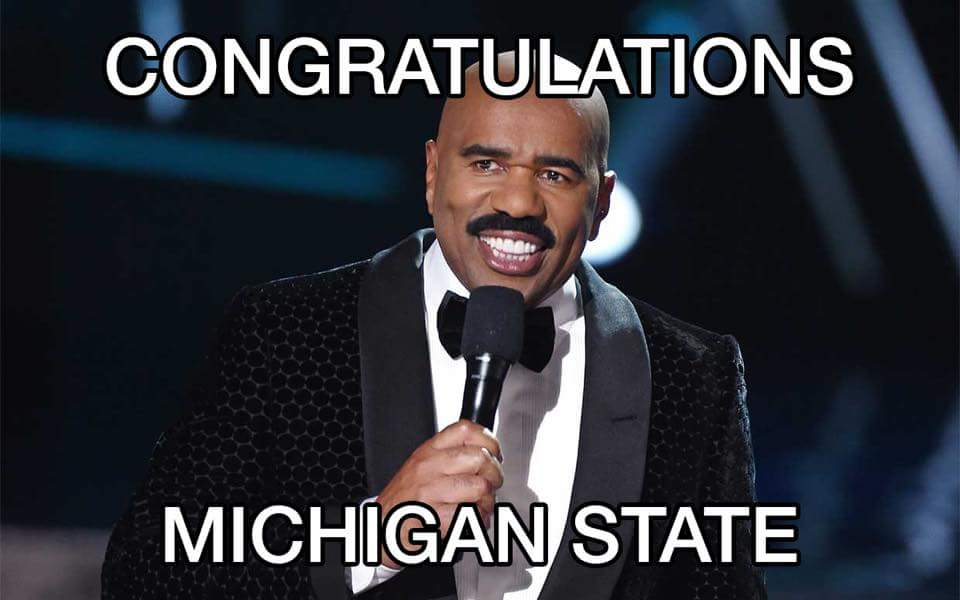 You have to laugh! #msu #steveharvey #MichiganState #CottonBowl #MSUvsBAMA https://t.co/P1qZpPEPRG