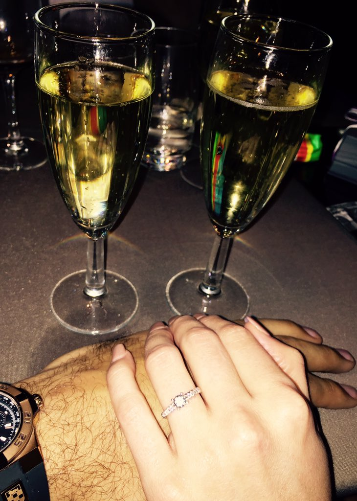 What a beautiful way to start the New Year...... She said Yes!!