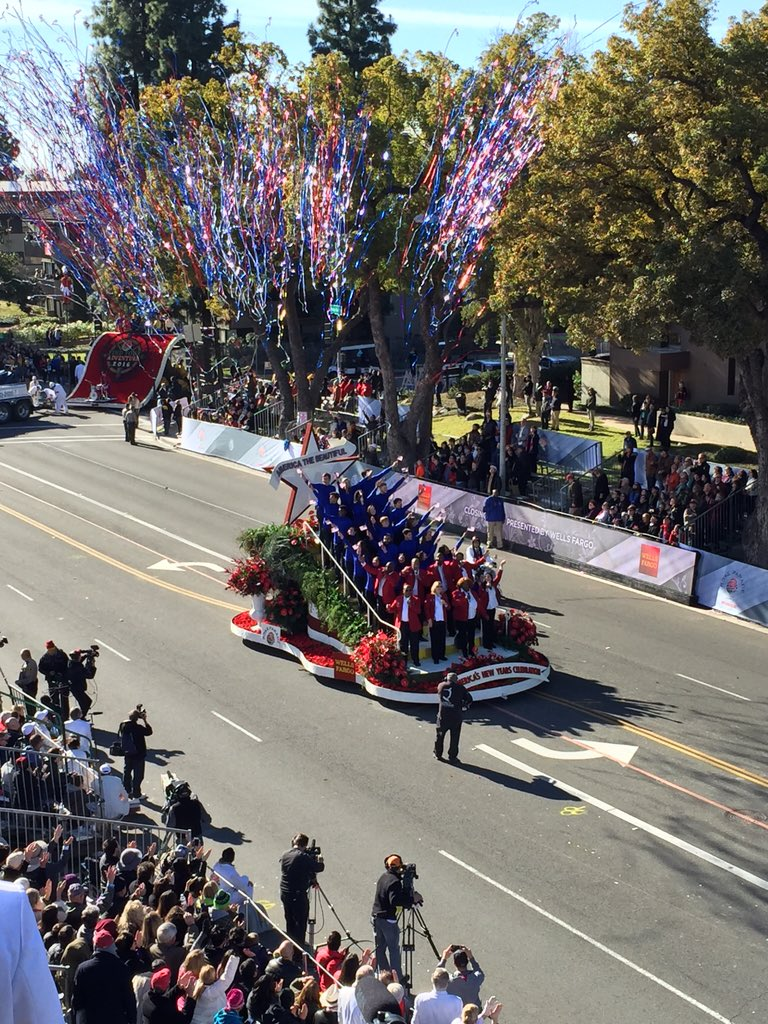 Thank you for watching the 127th #RoseParade! Have an adventurous 2016! https://t.co/L7q06T5luX