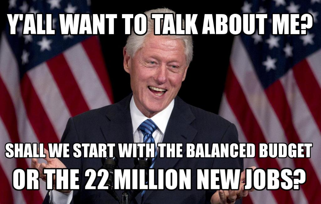 #BillClinton PROVED U can RAISE taxes on highest income earners & still GROW economy & CREATE jobs #p2 #tcot https://t.co/MkHF7494g8