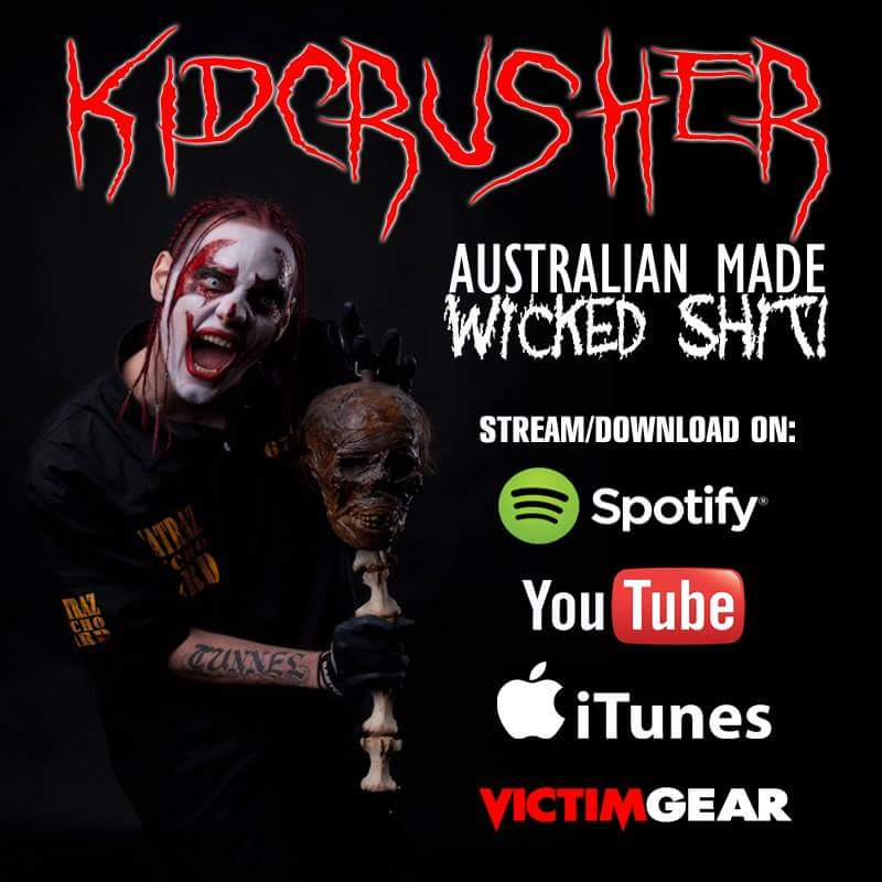 KidCrusher on Spotify iTunes YouTube and Victim Gear. Australian Made Wicked Shit. https://t.co/aByfbzBFQK