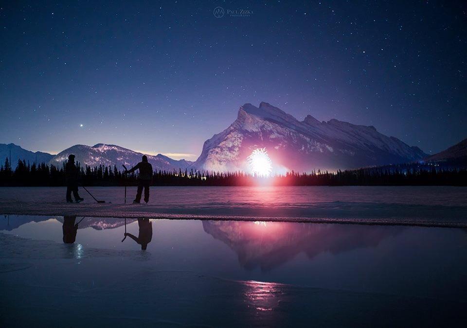 Banff snapshot, 12:03am, 2016. Happy New Year! Photo-@PaulZizkaPhoto https://t.co/8Ju6iVAYHC