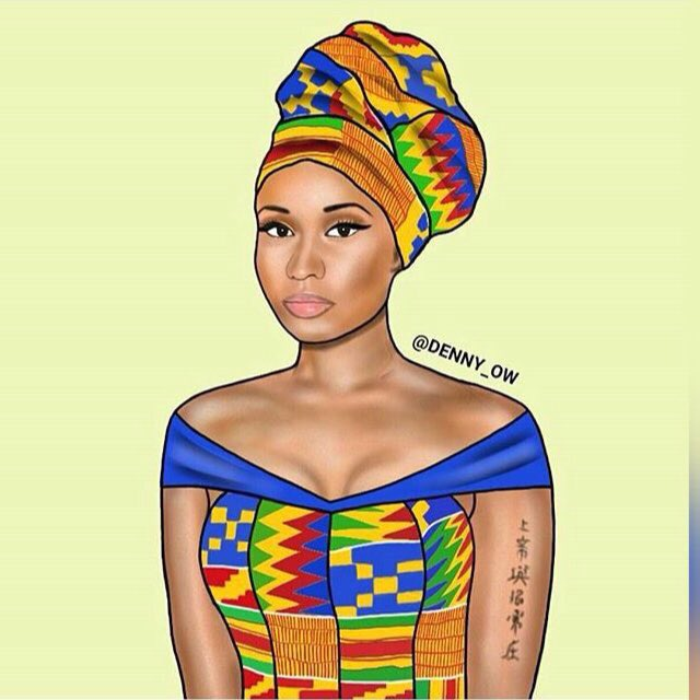 Look at you @NICKIMINAJ looking all Ghanaian ☺️❤️