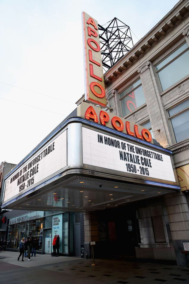 The Apollo Theater Marquee honors the memory of Singer Natalie Cole. https://t.co/ybbe97qgBl