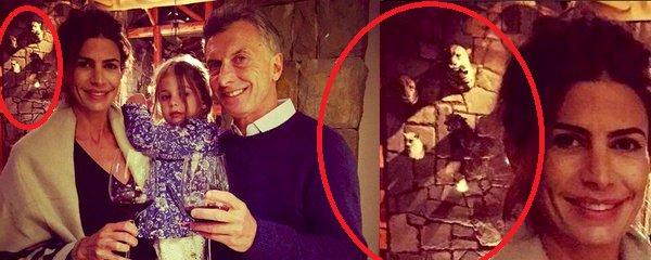 Tuit de Macri con brindis de fin de año posa con cabezas de animales de fondo. Para empezar el año muy horrible todo https://t.co/v00vP3awEw