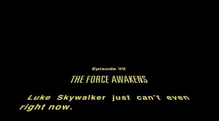 SPOILERS: The new #StarWars #TheForceAwakens opening crawl for millennials. https://t.co/xkqJh0Mn3N