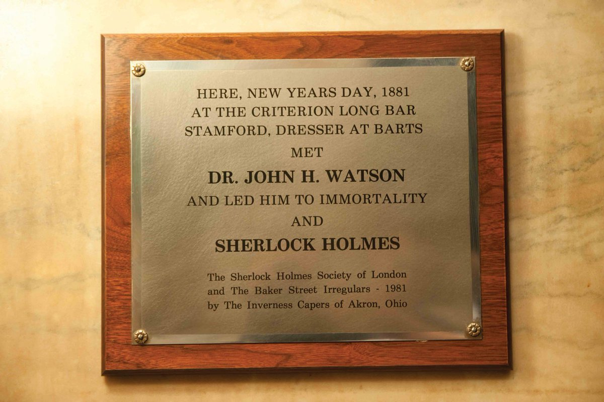 Stamford appears once again. The original meeting took place at the Criterion Bar 135 years ago today. #SherlockPBS https://t.co/el3pQKdhJu