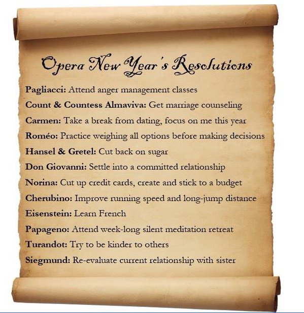 Opera's characters are making their New Year's Resolutions today... #newyearsresolution  Courtesy of @MetOperaGuild https://t.co/OiEmCF84cP