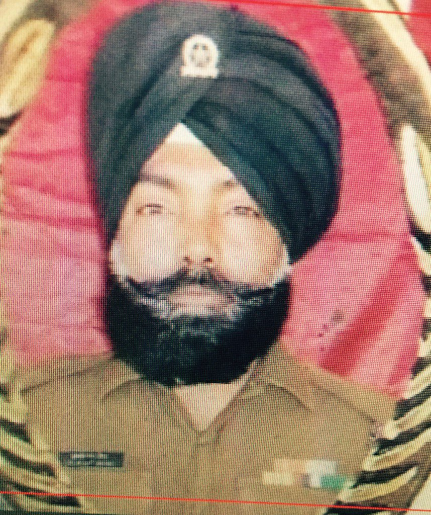 Kulwant Singh, who made the supreme sacrifice guarding the Pathankot Air Force base today. RIP Brave. https://t.co/HKzEx1Redz