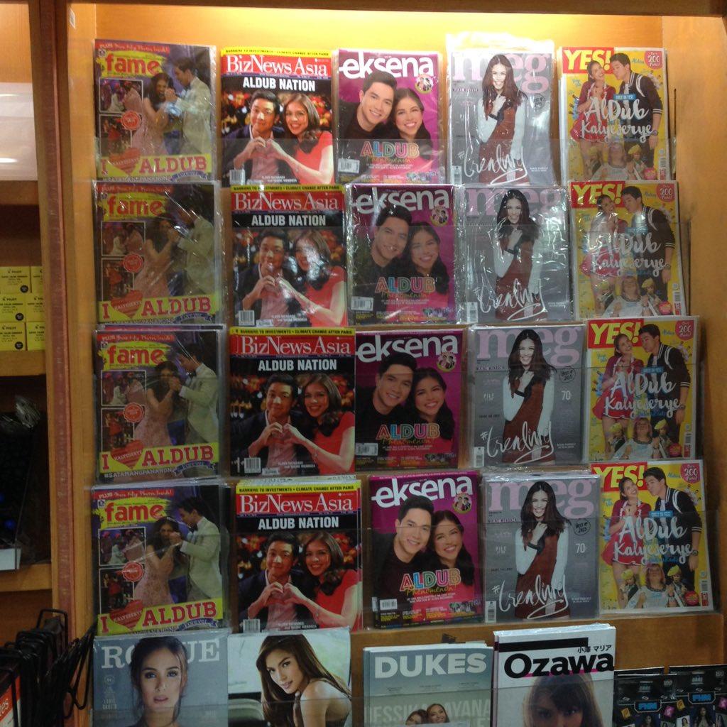"There's an #AlDub ""section"" at @PowerbooksStore @EdsaShangriLa. #ALDUBHappyBAEdayALDEN https://t.co/uah1SznxkK"