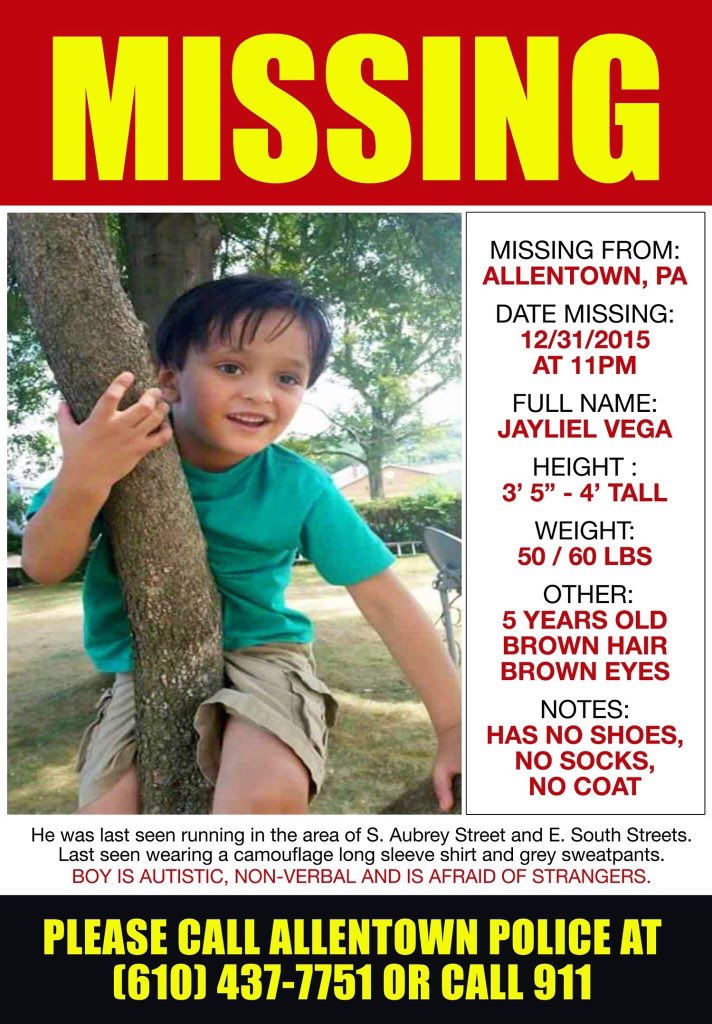 Missing In Allentown PA: child with #autism. https://t.co/ZV0OjHlyh0