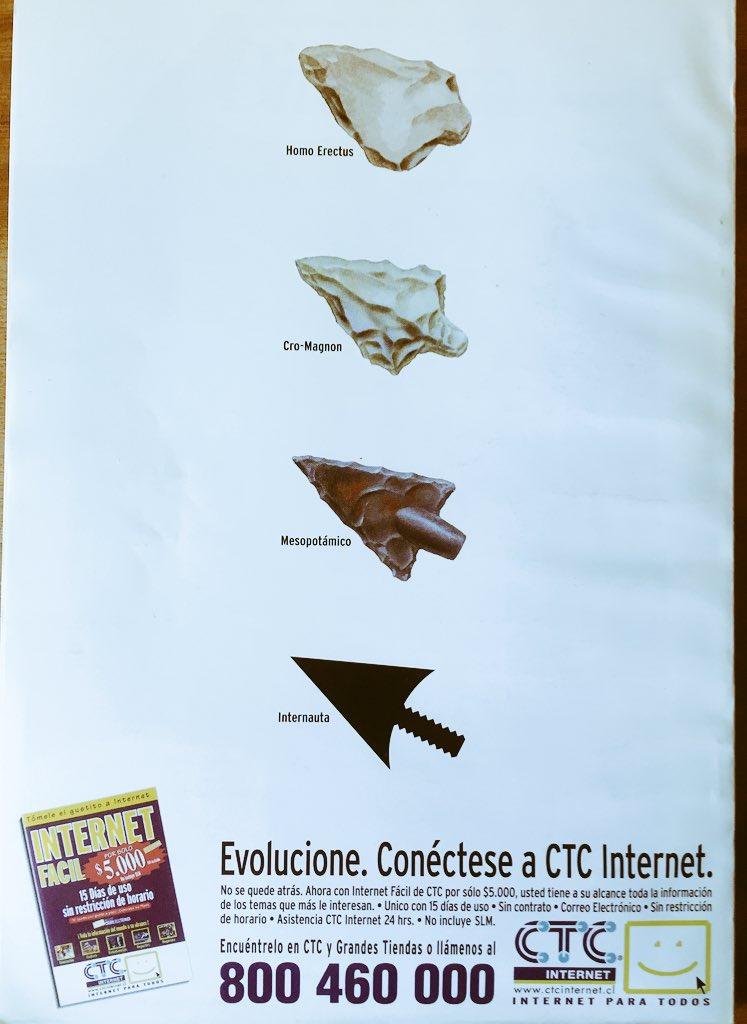 Que tierno una publicidad de internet de CTC en junio de 1999 https://t.co/DcG3n71irG