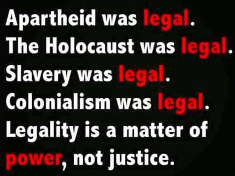If #FactsArentRacist, then we should remember that #LawsArentJust. https://t.co/IN6cUToB6o