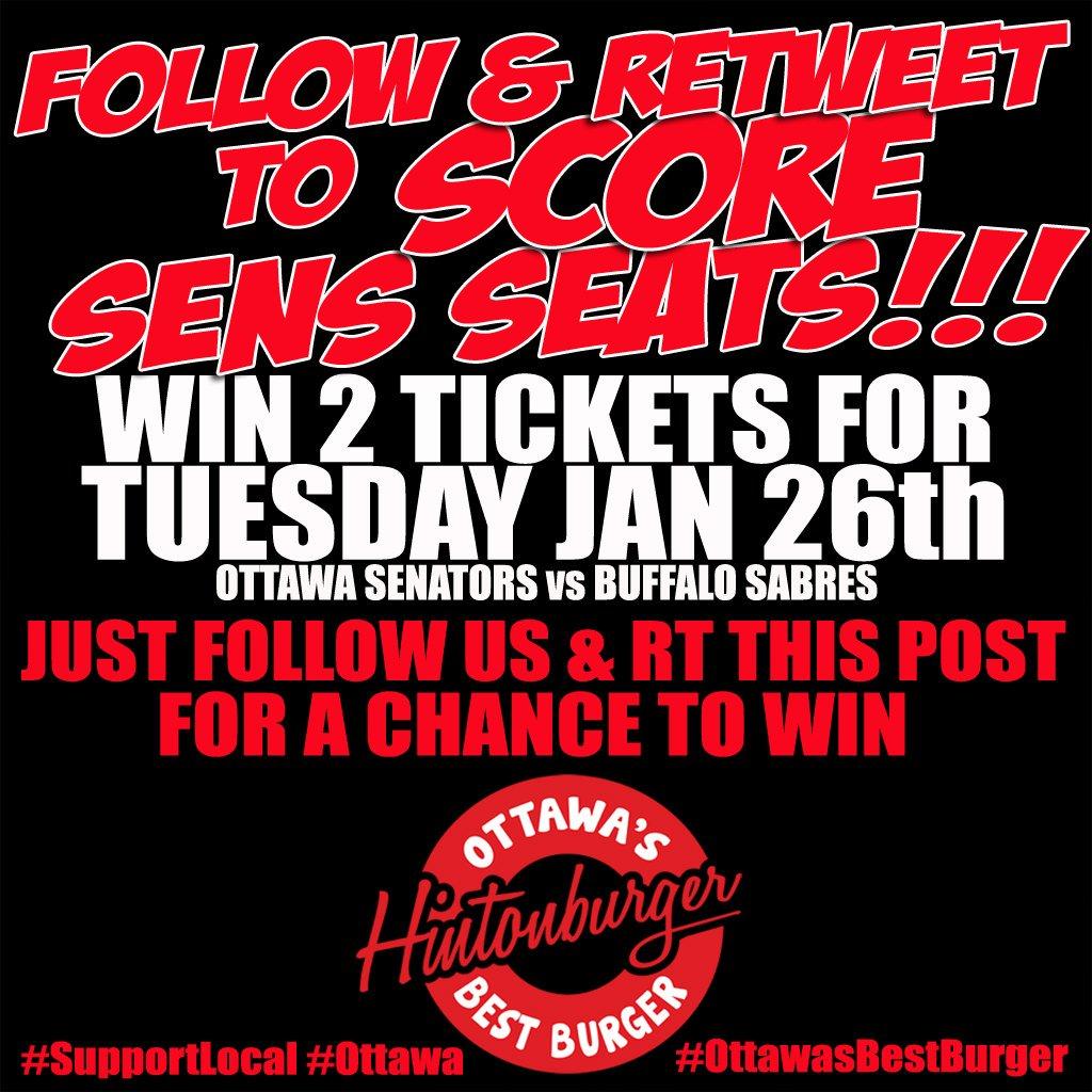 Follow & RT to #WIN 2 txts @ottawasenators vs #Buffalo #Sabres Tues Jan 26 #GoSensGo #Ottawa  #OttawaSenators https://t.co/DpEdH5Lvn2