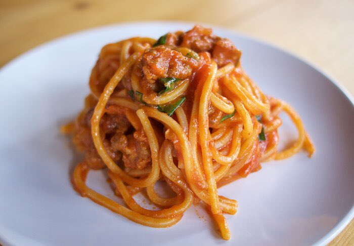 Pasta & Sausage in Quick Tomato Sauce proves #SundaySupper doesn't have to be difficult. https://t.co/5jXyx0XavF https://t.co/p2h8M0RzO6