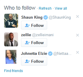 Not only is the fraudulent Shaun King account verified, Twitter even suggests I follow him. It's insulting. @Nero https://t.co/v8GnuC7EED