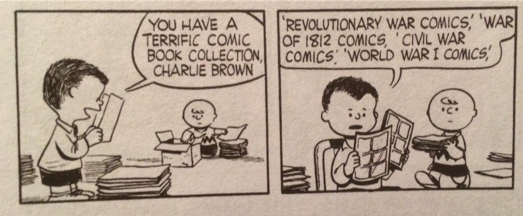 "Rarely reprinted antiwar Peanuts strip from 1954 (from Fantagraphics' ""Unseen Peanuts"") https://t.co/doJnK4IlWW"
