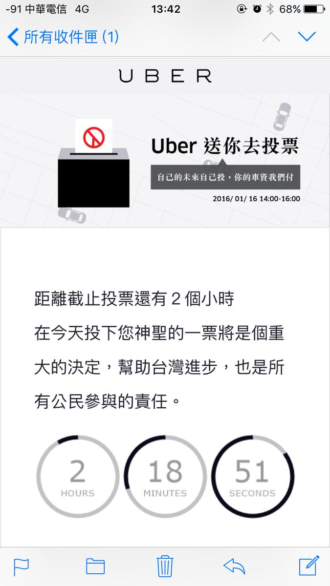 免費送你去投票所,Uber 幹得好啊! https://t.co/sBvxj05u1o
