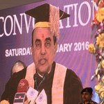 RT @jagdishshetty: Dr @Swamy39 delivering the Convocation address at the 4th Convocation of The IIS University at Jaipur today https://t.co…