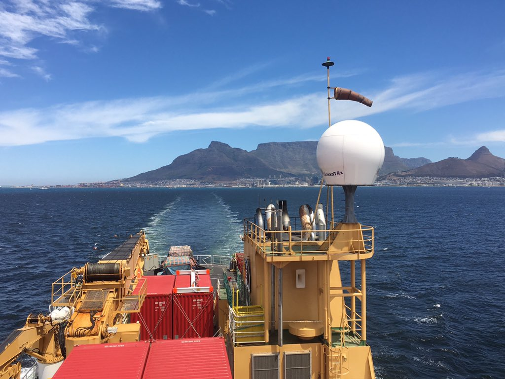 There's spectacular - then there's sailing away from Cape Town on a sunny afternoon bound for Antarctica #IceStation https://t.co/Nk6bpHsPCf