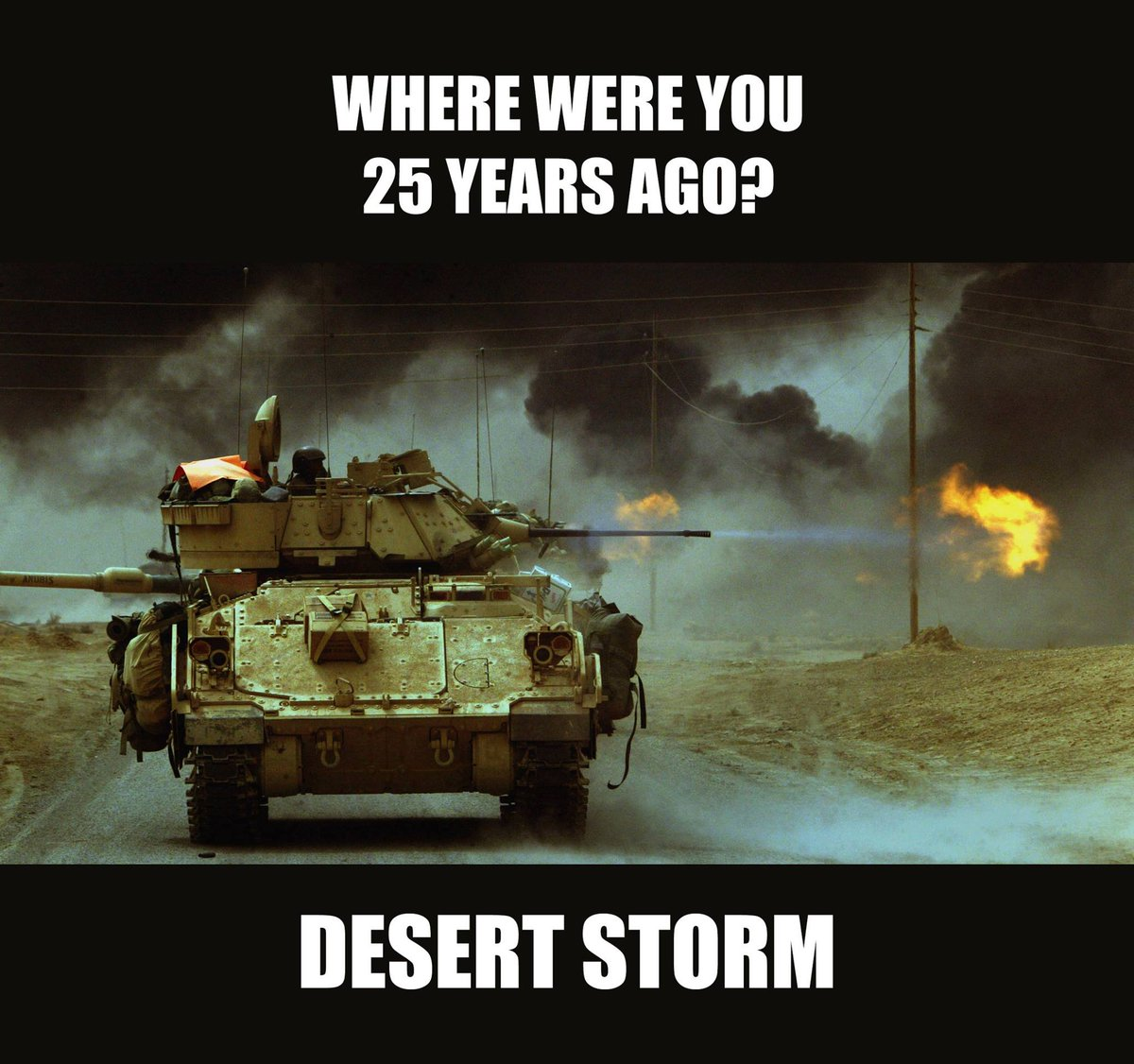 Where were you? #DesertStorm #ROTM #GulfWar #25thAnniversery #DesertShield #3ID @USArmy https://t.co/KOwT80P7GY