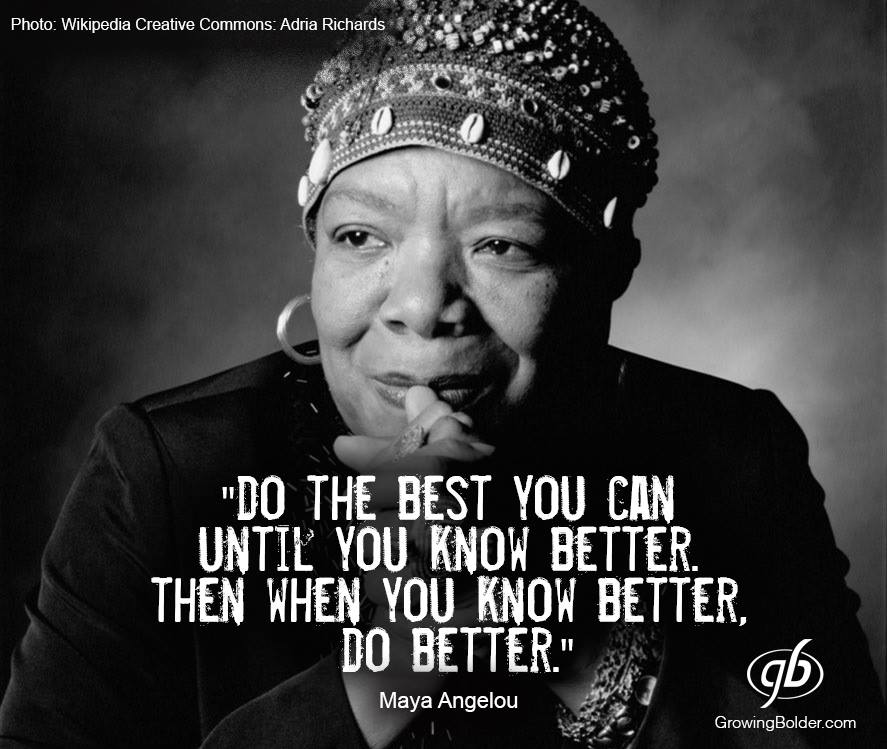 """Do the best you can until you can do better. When you know better, then do better."" https://t.co/mCUiLRht8m"