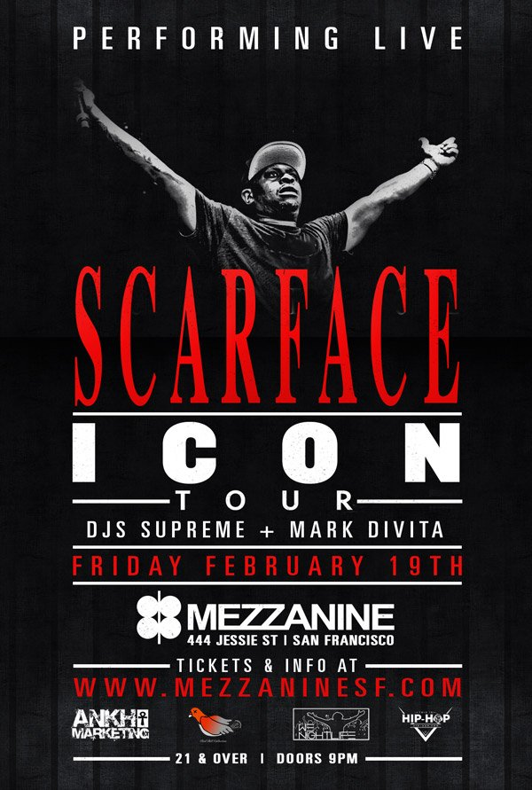 SCARFACE RETURNS. @BrotherMob is coming to mezz on 2.19!  tickets here - https://t.co/YWN8D5DjKk https://t.co/Y72DD8OiIQ