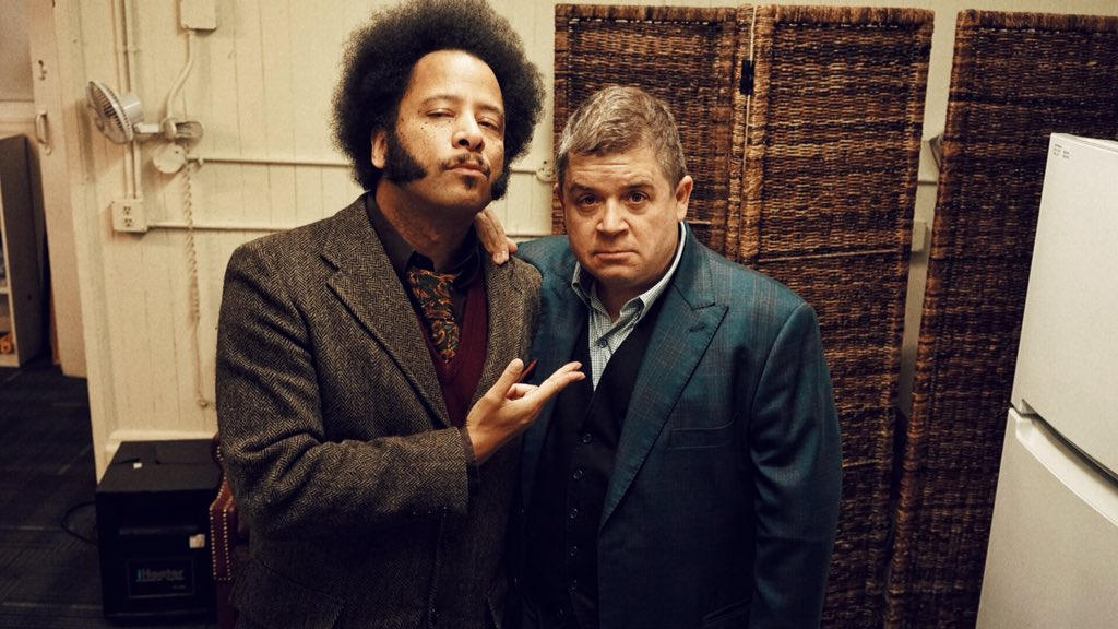 Thank you for a great afternoon @pattonoswalt & @BootsRiley. Photo by @steveagee https://t.co/dS9Mz6LjqT