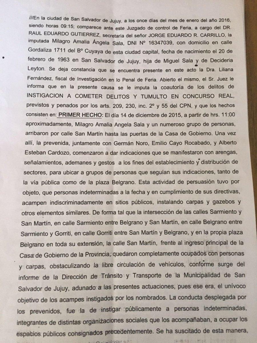 Jujuy: Gravísimo precedente de criminalización de la protesta social #MilagroSala https://t.co/Z8IU5pyTNX https://t.co/jaBa4DaS0u
