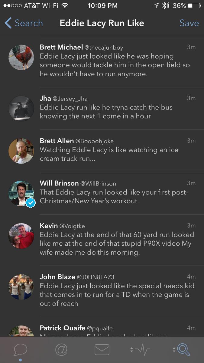 """Eddie Lacy Run Like"" = gold https://t.co/rXXddTqM1h"