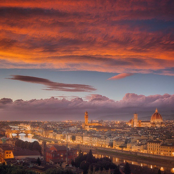 Sunrise in Florence, Italy https://t.co/z5tGYyrpb8