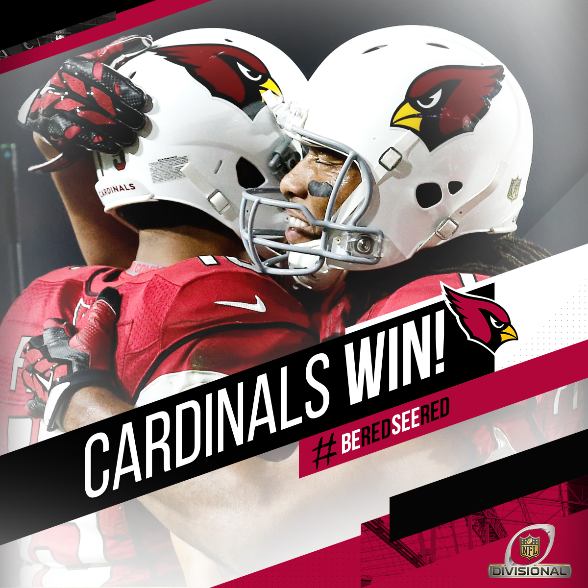Touchdown @LarryFitzgerald! It's over! The #AZCardinals are off to the NFC Championship!  #BeRedSeeRed #GBvsAZ https://t.co/x7wlRlN4Qm