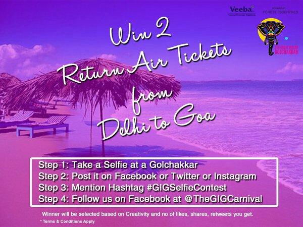 Win 2 Return Air Tickets to Goa in @TheGIGCarnival #GIGSelfieContest https://t.co/Mza7j6jXW7 https://t.co/9BGkNFvLIC
