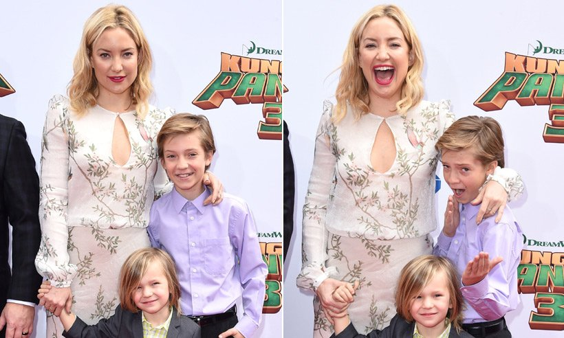Kate Hudson and Angelina Jolie take children to Kung Fu Panda 3 premiere