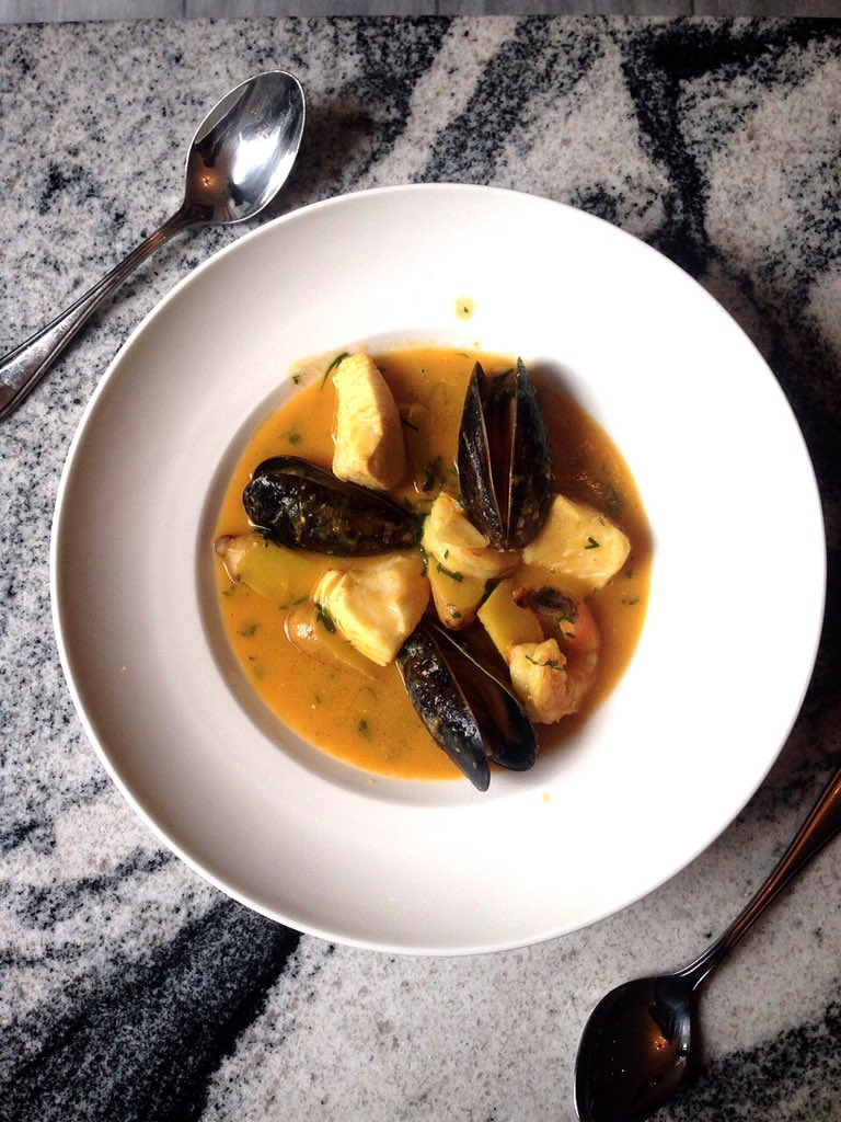 Ttoro from @chabrolto - southern French #seafood soup. Breakfast of fancy champions. To die for <3 https://t.co/IICE7rqhxI