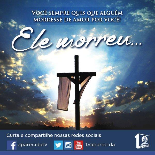 Essa é a maior prova de amor! #JesusEstaVoltando #TVAparecida https://t.co/lznSwl8udE