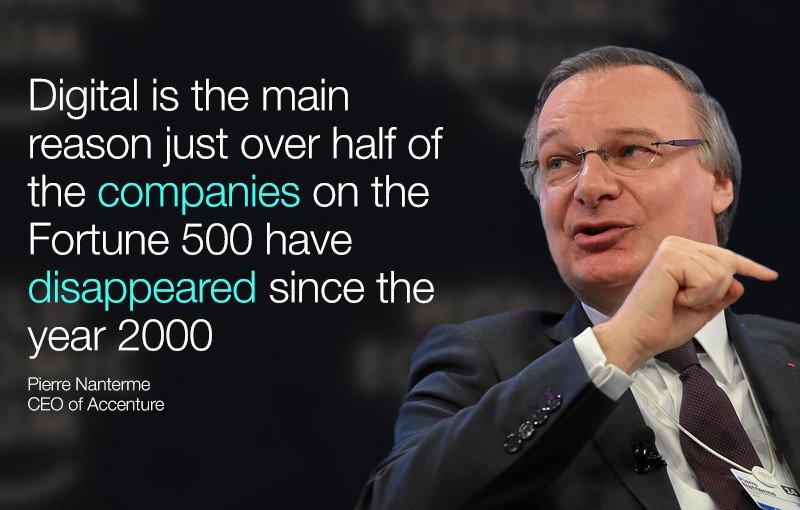 #DigitalDisruption has only just begun - @Accenture's Pierre Nanterme, via @wef https://t.co/4iazQJrDdQ #WEF16 https://t.co/RIPg8gqzr4