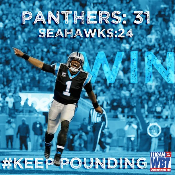 NFC Championship here we come: https://t.co/F6RZbyEhOs #KeepPounding #CLT https://t.co/vttnTHjLPA