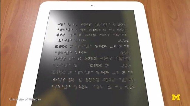 Researchers develop a revolutionary, full page Braille tablet for the blind https://t.co/fYK03VZUUR https://t.co/6DMymv8JSQ