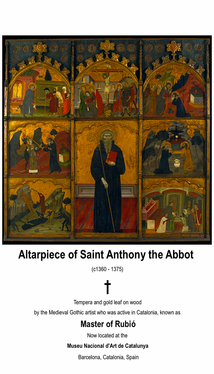 Saint Anthony the Great (c251 – 356) #Catholic #Christian #Art Medieval Gothic Altarpiece of Saint Anthony the Abbot https://t.co/Ajc4vaBuT5