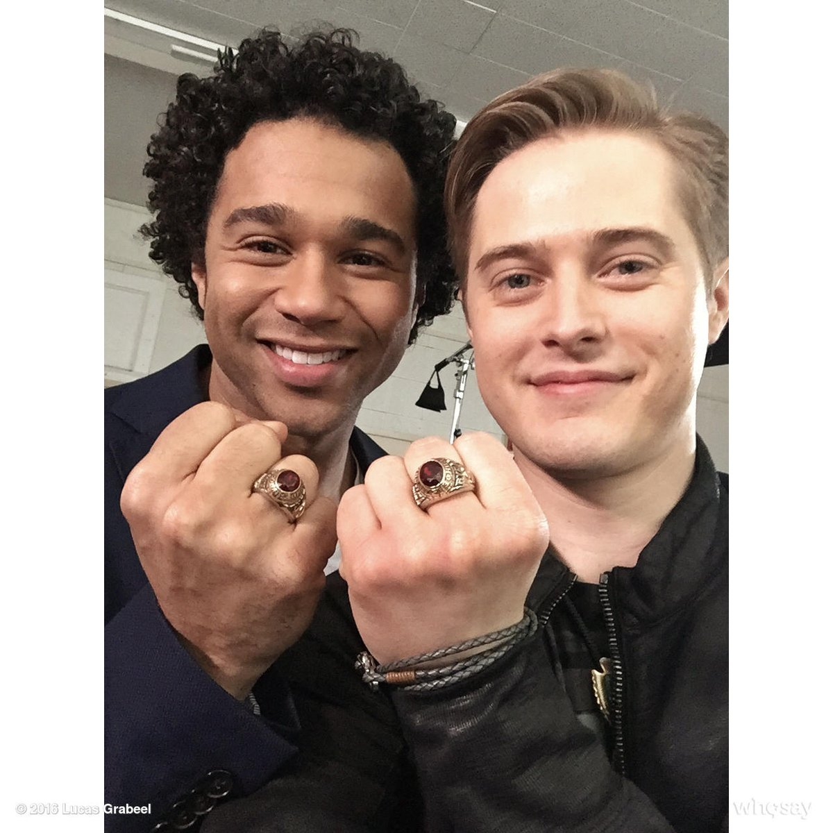 Wearing our #HSM class rings to celebrate the 10th anniversary. @corbinbleu. https://t.co/Je6roHkobz