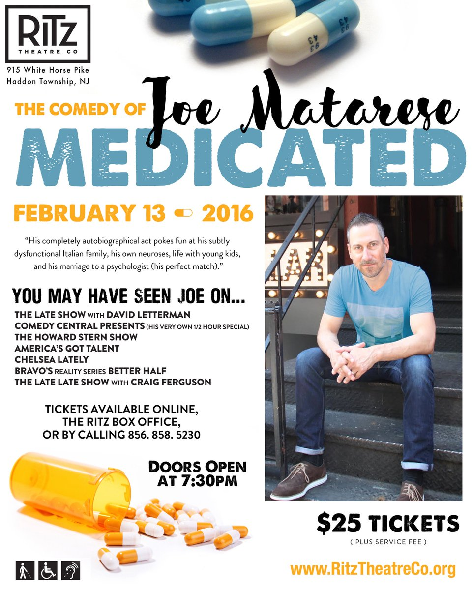 I need your help filling my Sat Feb 13th show @ The Ritz Theater in S Jersey everybody. https://t.co/KGRb8RxgIC
